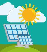 Green energy innovation - stock illustration