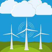 Green energy innovation Stock Illustration