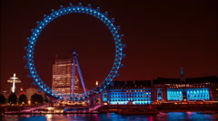 Time lapse of London Eye also named Millennium Wheel Stock Footage