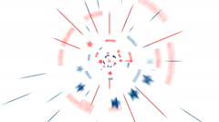 Red White Blue Animation - stock footage