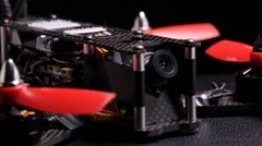 Racing drone quadcopter multirotor built for drone racing sport Stock Footage