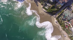 2.7K HD Surf in Laguna Beach, California Stock Footage
