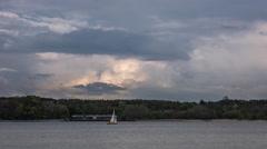 Kiel | Cumulus and Boats Stock Footage