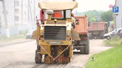 Repair of asphalt roads - stock footage