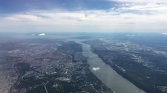 4K aerial of New York City, NY, USA from the north, featuring Manhattan, Central Stock Footage