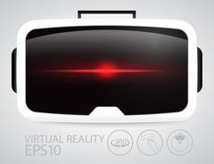 Virtual reality glasses. - stock illustration