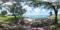 Nature scene by the bay 360 vr spherical video Stock Footage