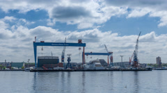 Kiel   Hyperlapse HDW Stock Footage