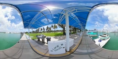 Haulover Marina spherical 360 4k video Stock Footage