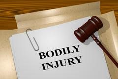 Bodily Injury legal concept - stock illustration