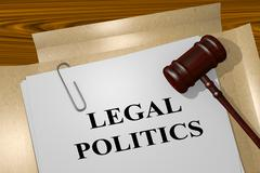 Legal Politics legal concept Stock Illustration