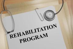 Rehabilitation Program medical concept Stock Illustration