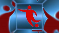 SPORTS News Background, Broadcast Graphics Title Stock Footage