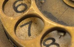 Close up of Vintage phone dial - 7 - stock photo