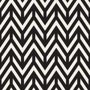 Vector Seamless Chevron ZigZag Horizontal Lines Geometric Pattern - stock illustration