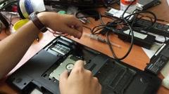 Laptop repair Stock Footage