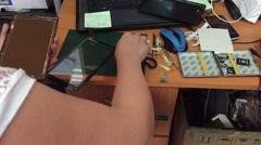 Tablet repair Stock Footage