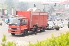 Paramedic truck for emergency service Kuvituskuvat
