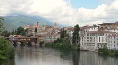 Bassano del Grappa, Italy Stock Footage