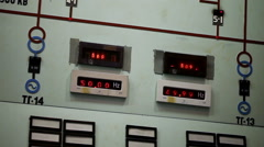 Nuclear power station. Plant control room. VVER monitoring and control system. Stock Footage