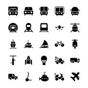 Transport Vector Icons - stock illustration