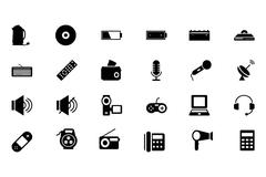 Electronics Vector Icons Set Stock Illustration