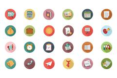 Business Flat Colored Icons Stock Illustration