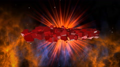 Fire flame, Space, futuristic background for caption, title, name, intros Stock Footage
