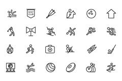 Sports Related Icons - stock illustration
