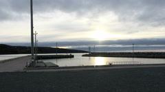 Fishing Wharf Seaside Timelapse- Arisaig, Nova Scotia Stock Footage