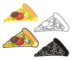 Pizza slice Stock Illustration
