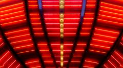 Red Neon Las Vegas Casino Sign at Night - stock footage