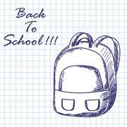 School backpack - stock illustration