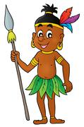 Aborigine theme image - eps10 vector illustration. Stock Illustration