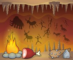 Prehistoric cave thematic image - eps10 vector illustration. Piirros