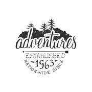 Nationwide Adventures Vintage Emblem - stock illustration