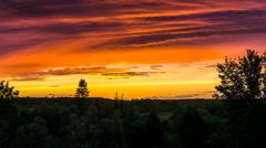 Kiel | Colorful Sunset @ Canal Bridge Stock Footage