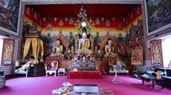 Buddha in Wat Chetawan temple, Chiang Mai, Thailand. Stock Footage