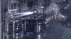 Modern clean Production line of pop and sodas, carbonated drinks. Empty plastic Stock Footage