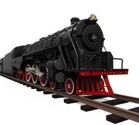 Steam Locomotive Train - stock illustration