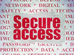 Protection concept: Secure Access on Digital Data Paper background - stock illustration
