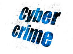 Protection concept: Cyber Crime on Digital background - stock illustration