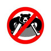 Stop drunk Russian. It is forbidden to people of Russia. Crossed-bear with ac - stock illustration