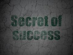 Business concept: Secret of Success on grunge wall background - stock illustration