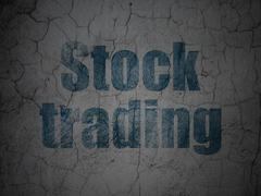 Finance concept: Stock Trading on grunge wall background Stock Illustration