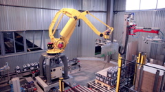 Robotic Arm Loading and assembling products - stock footage