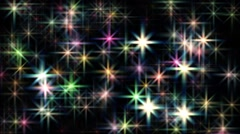 Large abstract colorful rotating twinkling stars motion background loop - stock footage