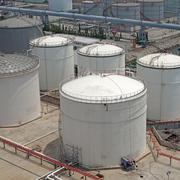 chemical storage tank - stock photo