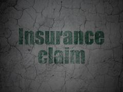 Insurance concept: Insurance Claim on grunge wall background - stock illustration