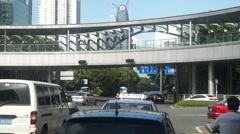 Shenzhen road traffic landscape, Guangdong, China - stock footage